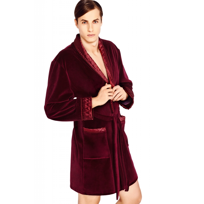 Smoking Jacket Men's Dressing Gown