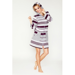 Striped dressing gown with...